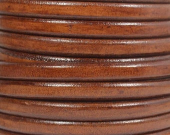 Regaliz Licorice Leather - Whiskey - R24 - Choose Your length