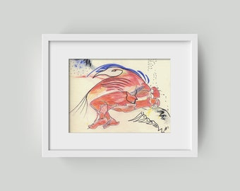 Drawing original 15/20 cm (5.9/7,87 inch)