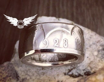 1922 to 1926 US Peace silver dollar coin ring
