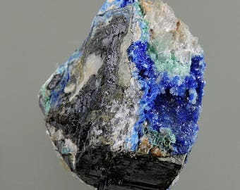 Linarite Crystals on Galena 100% Natural Mineral Specimen from New Mexico