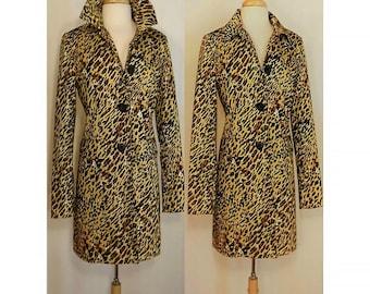 Women's coat, leopard coat, leopard print coat, long coat, leopard overcoat, maxi coat, animal print coat, ladies coat, Vintage leopard Coat