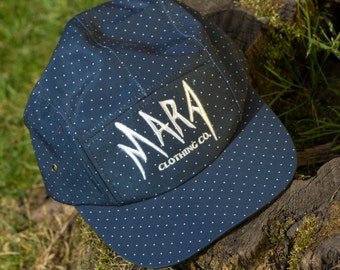 Polka Dot 5 Panel Cap