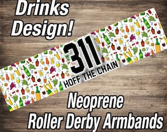 Roller Derby Armbands - Drinks Design