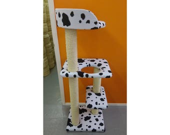 Compact 4ft Tall Cat Tree with Tub Bed | Cat Furniture by ScratchyCats UK