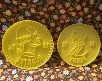 Vintage cookie cutters coins