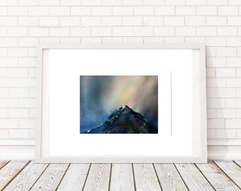 Aurora Borealis - Original Watercolor ART