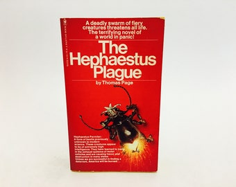 Vintage Thriller Book The Hephaestus Plague by Thomas Page 1975 Paperback