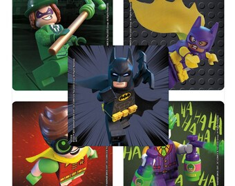 "30 Batman Lego Movie Stickers, 2.5"" x 2.5"" Each"