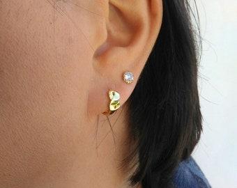 Small hoops earrings, Tiny hoops, Dainty hoops, Huggie hoops, Minimalist earrings.