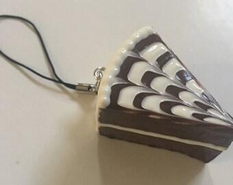 Mini Cake Homemade Squishy-Chocolate Swirl