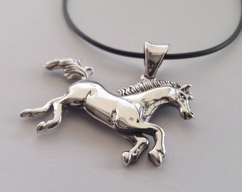 Horse Pendant - Sterling Silver Pendant El Caballo - Horse Jewelry - Equestrian Jewelry, Horse Gift Ideas, Gifts for Horse Lovers
