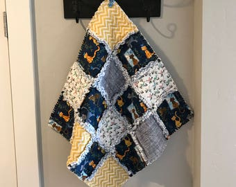 Pet Bedding-Cat Blanket-Rag Quilt-Crate Mat-Modern-Birds-Flowers-Reversible-Pet Supplies-Navy Blue-Yellow-Couch Cover-Travel-Portable.