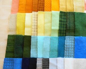 Teinte de vente à la main en laine feutrée des chutes lot numéro 1415 quilting Acres Rug Hooking Applique laine sou tapis en laine