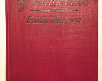 The Age of Innocence by Edith Wharton (1st Edition 1st Printing 1920 True First) D. Appleton & Company Pulitzer Prize Rare Antique Romance
