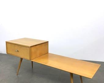 Vintage Paul McCobb Planner Group Bench & Single Drawer Cabinet