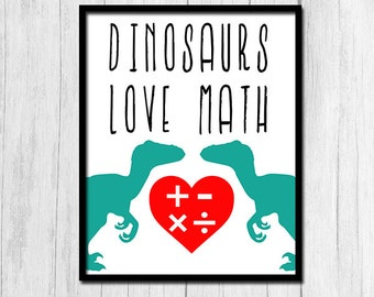 Funny Classroom Posters Printable Art Funny Classroom Art Classroom Print Digital Download Dinosaur Wall Art Funny Math Poster Math Class