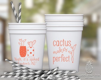 Cactus Party | Customizable Birthday or Baby Shower Cups | social graces and Co