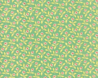 Hazel and Plum - Plum Blossoms in Pond: sku 20291-16 cotton quilting fabric by Fig Tree and Co. for Moda Fabrics