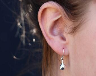 Teardrop Earrings, Silver Drop Earrings, Drop Earrings , Bridesmaid Gift, Sterling Silver Earrings, Silver Jewelry, Silver Earrings