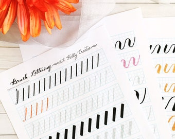 DRILLS to IMPROVE Brush Lettering Worksheets