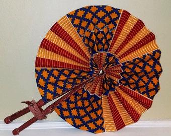 Ghanaian Kente Fan (Authentic)