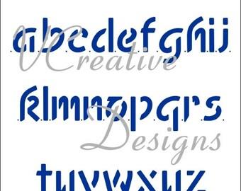 Freehand Lower Case alphabet stencil