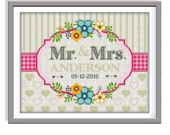 Wedding Cross Stitch Etsy