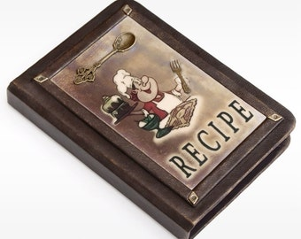 Leather Recipe book, personalized recipe journal, recipe notebook, cookbook, gift for her ,chef gift