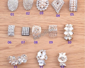 Crystal Rhinestone Pearl Embellishments Wedding Accessories, Jewelry Accessories(You Pick 5pcs/same style)