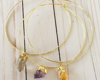 Crystal Choker | Gemstone Choker | Gold Choker