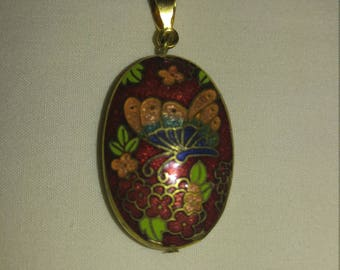 Vintage Colorful Butterfly Pendant- Free Shipping