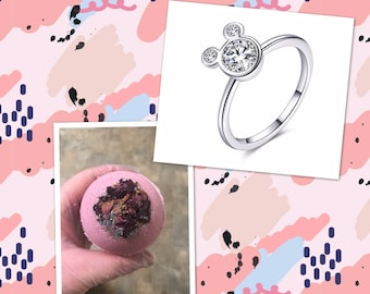 Ring Bath Bomb | Bath Bomb with Ring | Bath Bomb Surprise | Birthday Bath Bomb | Ocean Wave Ring | Surprise Bath Bomb | Jewelry Bath Bomb
