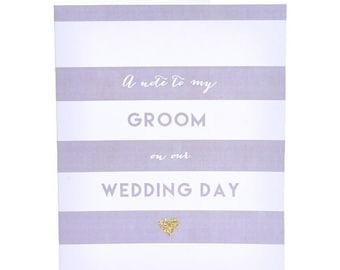 Wedding Day Groom Card ~ Groom Card ~ Wedding Day Card ~ Wedding Stationery