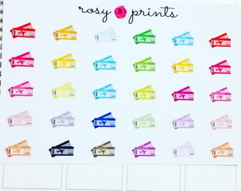 30 Flight Boarding Pass Stickers - Perfect for Erin Condren Life Planners / Journals / Stickers