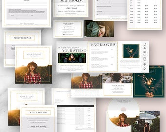 Photography, Marketing, Kit, Photographer, Templates, Business, Photography Forms, Branding Kit, Marketing Sets, Photoshop, Gold, Glitter