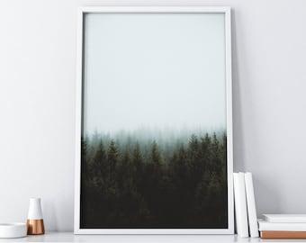 Forest Printable Wall Art| Wall Decor| Mountain Print| Tumblr Room Decor| Landscape Wall Print| Fall Decor| Christmas Decor| Home Decor
