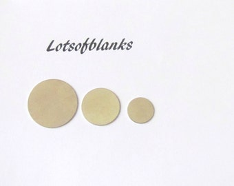Nickel silver blanks - 24g Stamping Supplies - Easy to Stamp on -  Pkg of 10