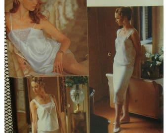 Lingerie Pattern, Camisole, Dance Pants, Slip, Lace Trim, Vogue No. 7626 UNCUT Size XS S M (6-8-10-12-14)