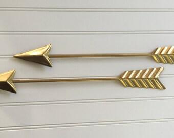 Arrow Wall Decor - Gallery Wall - Gold Wall Arrow - Arrow Wall Decoration -Nursery Decor- Gallery Wall Decor - Metal Wall Art