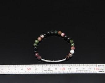 1pcs(jkbl-0018) - natural tourmaline brcelet with brass and cz