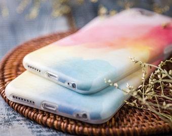 Coque iPhone 6 plus Coque iPhone 6s plus - Rêve d'Aquarelle - Vintage Rose - Nouvelle Collection Nyucase - Coque Souple - Ultra Slim - Mat