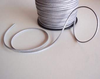 7 Yards (21 Ft.) Silver Sparkle Colored Faux Suede Cord, Jewelry Making Supplies