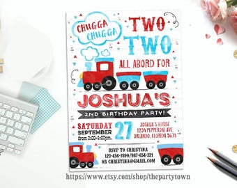 3rd birthday invite etsy train birthday party invitations filmwisefo