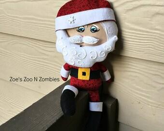 Handmade Santa Whimsical Cloth Doll Soft Toy Father Christmas