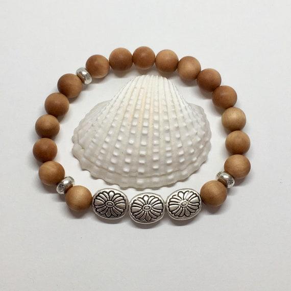 sandlwood bracelet, yoga jewelry, boho style