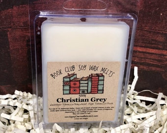 Christian Grey - Book Club - Book Lovers Tart - Scented Soy Candle Melt - Book Lover Gift - Book Candle Tart - 50 Shades of Grey - Gift