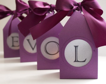 Custom Box Luminaries / Sweetheart Table / Table Markers / Table Numbers / Centerpiece