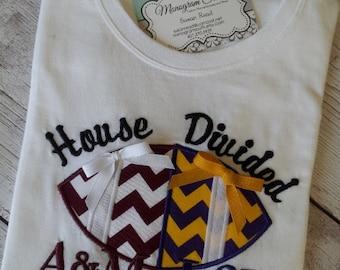 House Divided Baby Divided Football Sports Team T-shirt onesie bodysuit