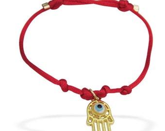 SALE Kabbalah String Bracelet/ Hamsa Bracelet/ Hand of Fatima/ Evil Eye Bracelet