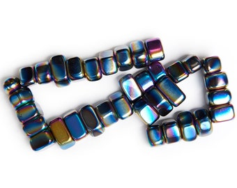 Digging Dolls: 1 lb Small Rainbow Magnetic Hematite Sticky Stones - 23-30 pcs per pound average